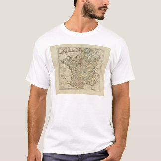 France Divided into Circles and Departments 2 T-Shirt