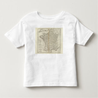 France Divided into Circles and Departments Toddler T-Shirt