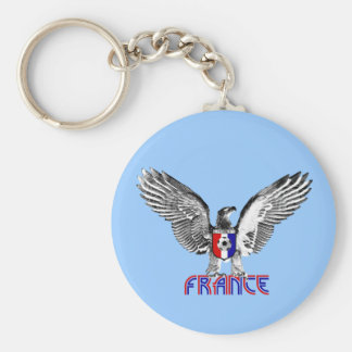 France Eagle soccer players and football fans gift Basic Round Button Key Ring