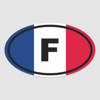 France - F - European Oval Sticker