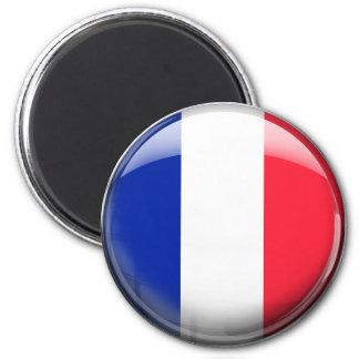 France Flag 6 Cm Round Magnet