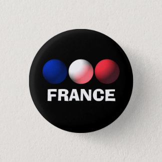 France Flag Blue, White and Red Spheres 3 Cm Round Badge