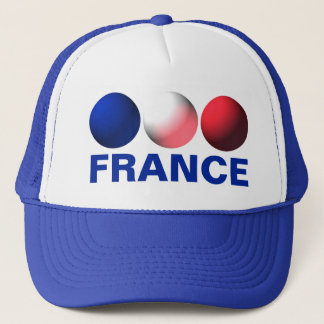 France Flag Blue, White and Red Spheres Trucker Hat