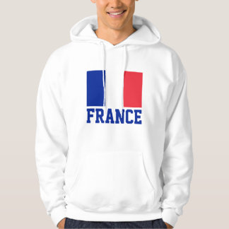 France Flag Customizable Blue Text Hoodie