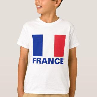 France Flag Customizable Blue Text T-Shirt