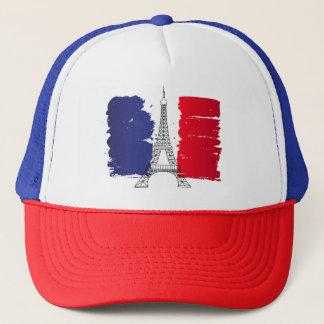 France Flag Customized Trucker Hat Men Cap