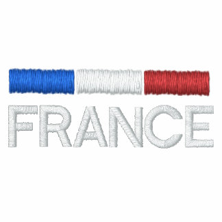 France flag embroidered embroidered pullover hoodie