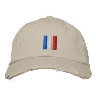 France Flag Embroidered Hats
