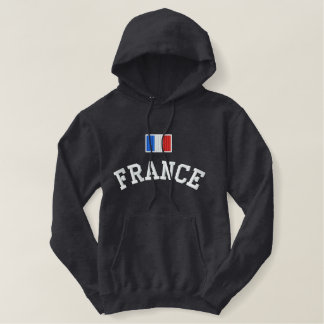 France Flag Embroidered Pullover Hoodie