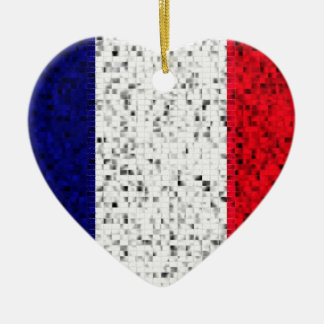 France Flag glitter ornament