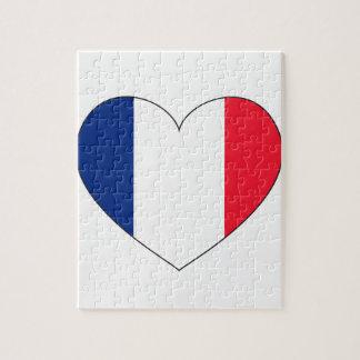 France Flag Heart Jigsaw Puzzle