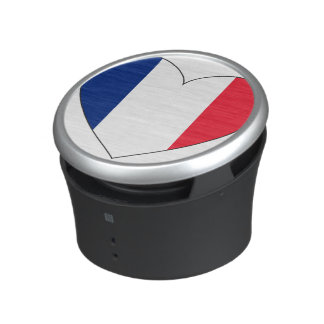 France Flag Heart Speaker