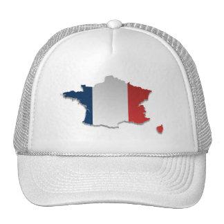 France Flag Map_2 Cap