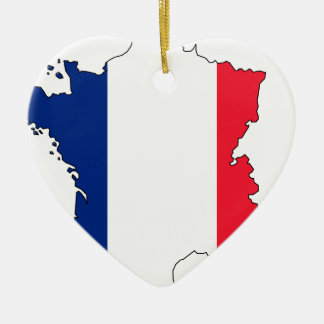 France Flag Map #2 Christmas Ornament