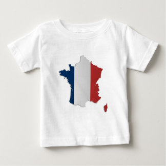 France Flag Map Baby T-Shirt