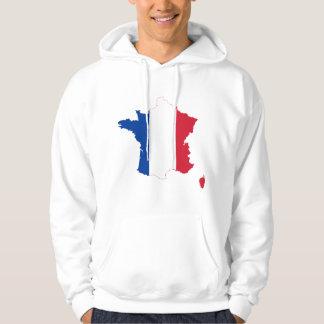 France Flag map FR Hoodie