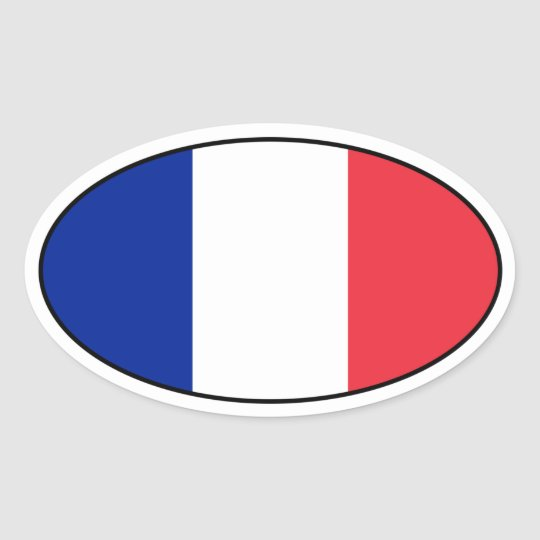 France Flag Oval Sticker