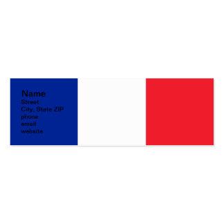 France Flag Pack Of Skinny Business Cards