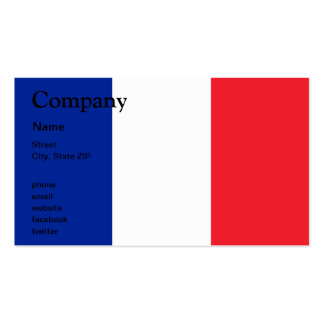 France Flag Pack Of Standard Business Cards