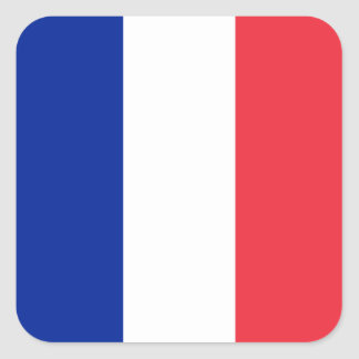 France Flag Square Sticker