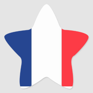 France flag star stickers