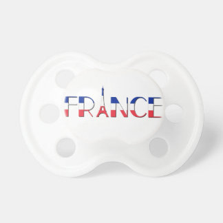 France flag with Eiffel Tower blue, red, white Baby Pacifiers