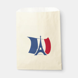 France flag with Eiffel Tower Favour Bags