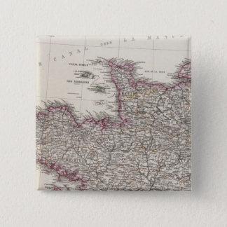 France, four leaves, leaf 1 15 cm square badge