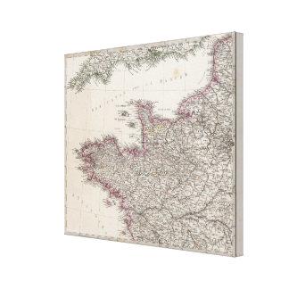 France, four leaves, leaf 1 canvas print