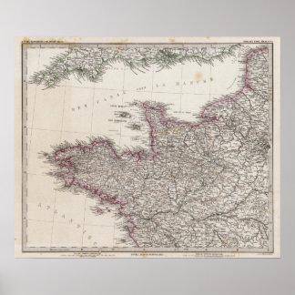 France, four leaves, leaf 1 poster