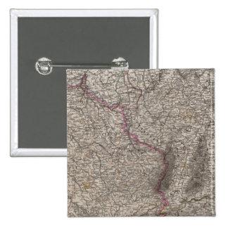 France, four leaves, leaf 2 15 cm square badge