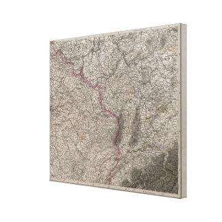 France, four leaves, leaf 2 canvas print