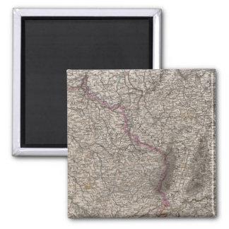France, four leaves, leaf 2 square magnet