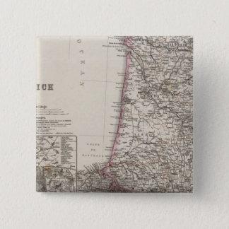 France, four leaves, leaf 3 15 cm square badge