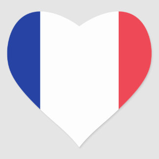 France FR Heart Stickers