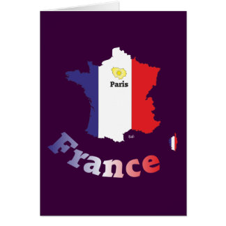 France - France greeting map Greeting Card
