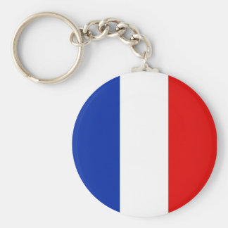 France, France Basic Round Button Key Ring