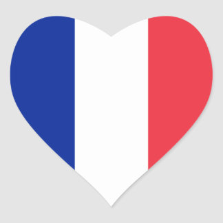 France/French Flag Heart Sticker