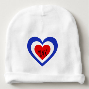 3c486181e10 France French flag-inspired Hearts Baby Beanie