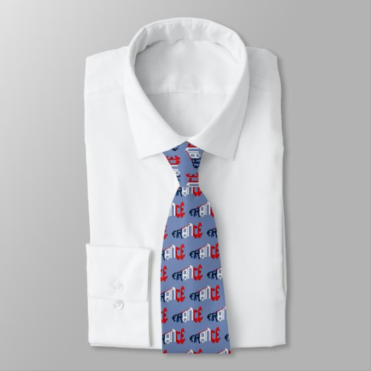 France French Football Soccer Flag Tie