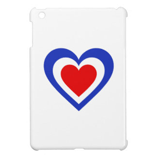France/French Tricolore flag-inspired Hearts Cover For The iPad Mini
