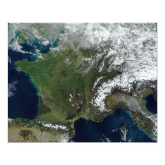 France from space photo