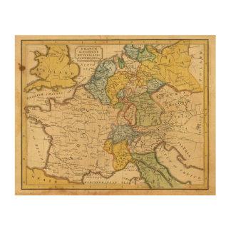 France, Germany, Netherlands, Switzerland Wood Print