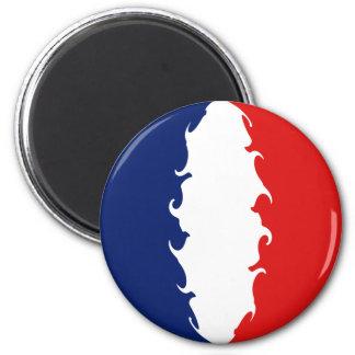 France Gnarly Flag 6 Cm Round Magnet