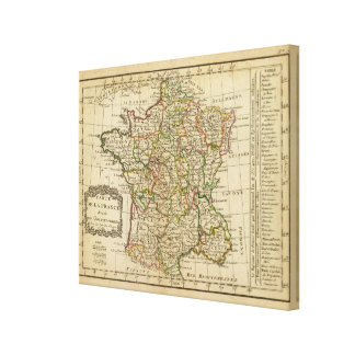 France, governments canvas print