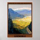 France Grenoble Restored Vintage Travel Poster