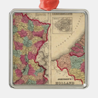 France Holland and Belgium Christmas Ornament