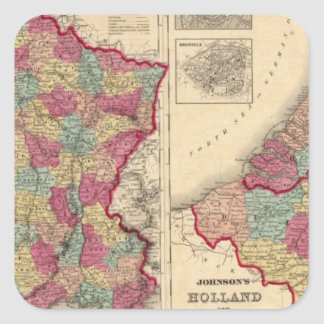 France Holland and Belgium Square Sticker