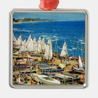 France, Hyeres, Var, Port and Marina Christmas Ornament