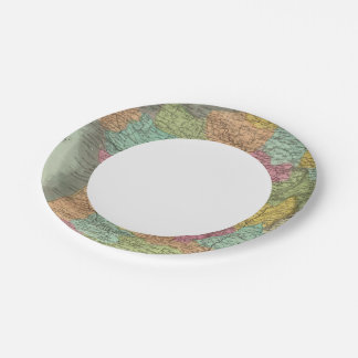 France In Departments 2 7 Inch Paper Plate